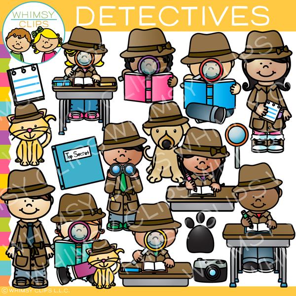 Detective clipart desk. Kids clip art