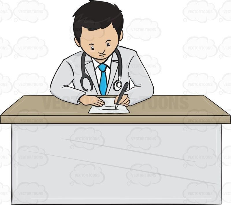 Pin on vector illustrations. Desk clipart doctor