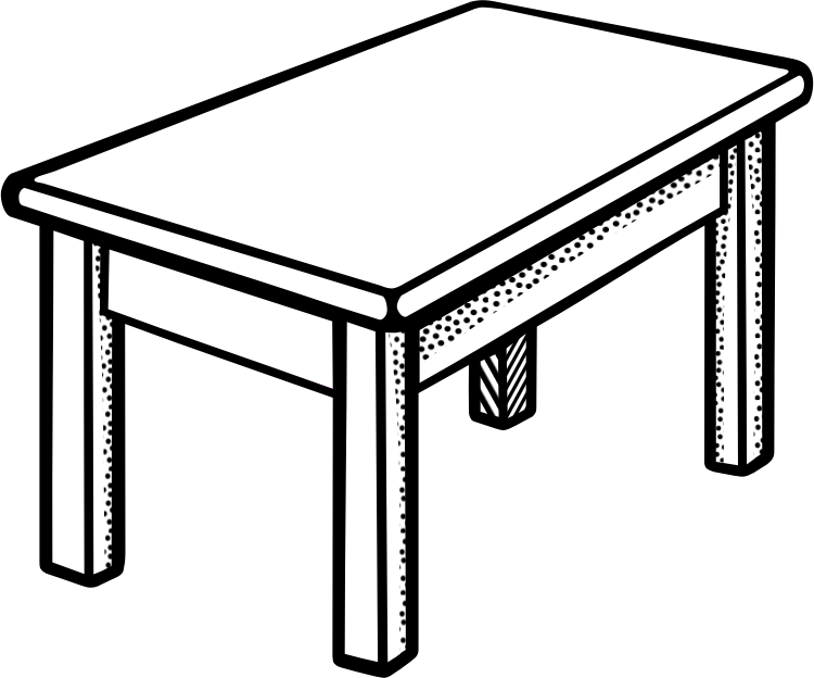 Letters format clip art. Desk clipart black and white