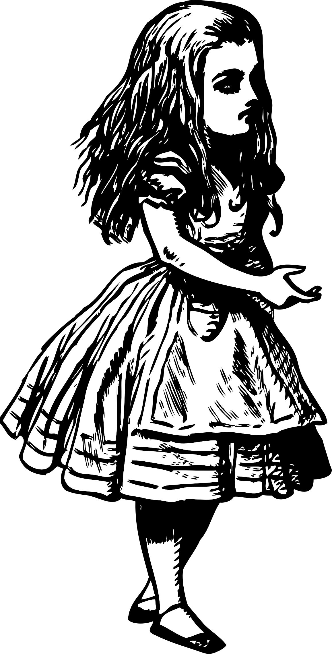 Alice in wonderland big. Writer clipart female author
