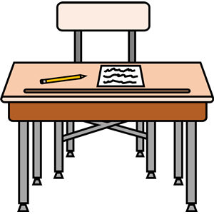 Empty seat with a. Desk clipart worksheet