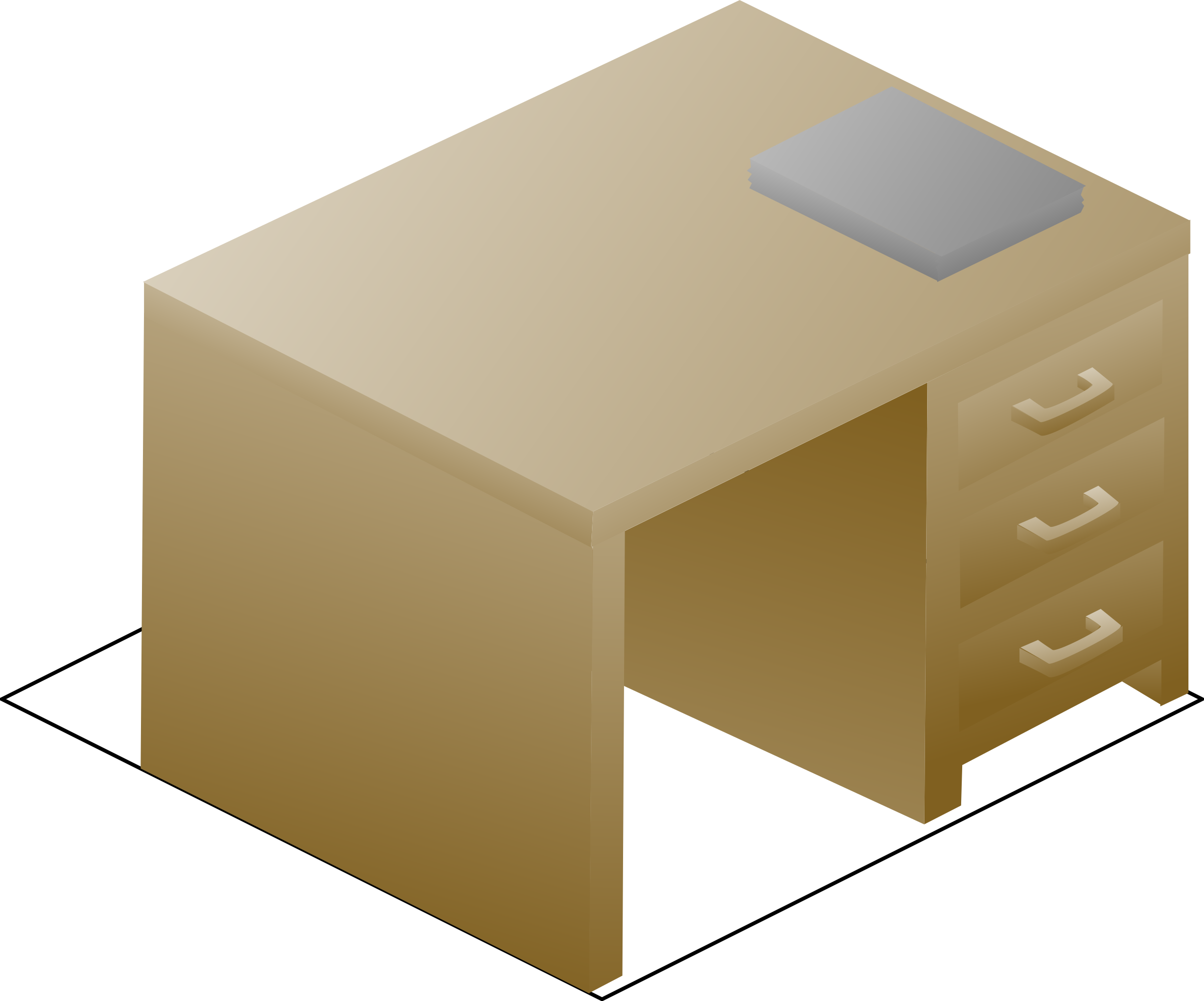 Clipart desk front. Isometric left view with