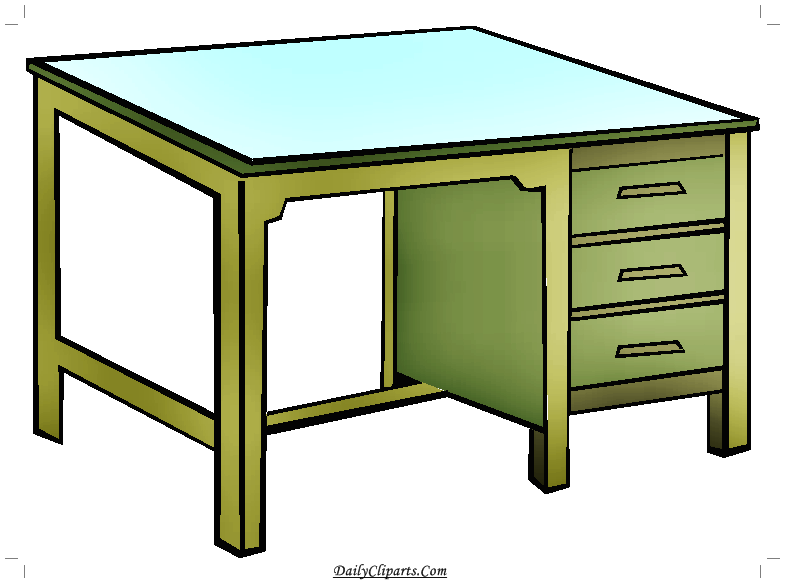 Clipart table study table. Student image daily cliparts