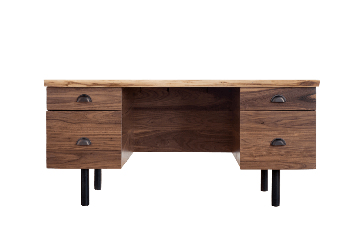 Desk clipart desk drawer. Mid century modern industrial