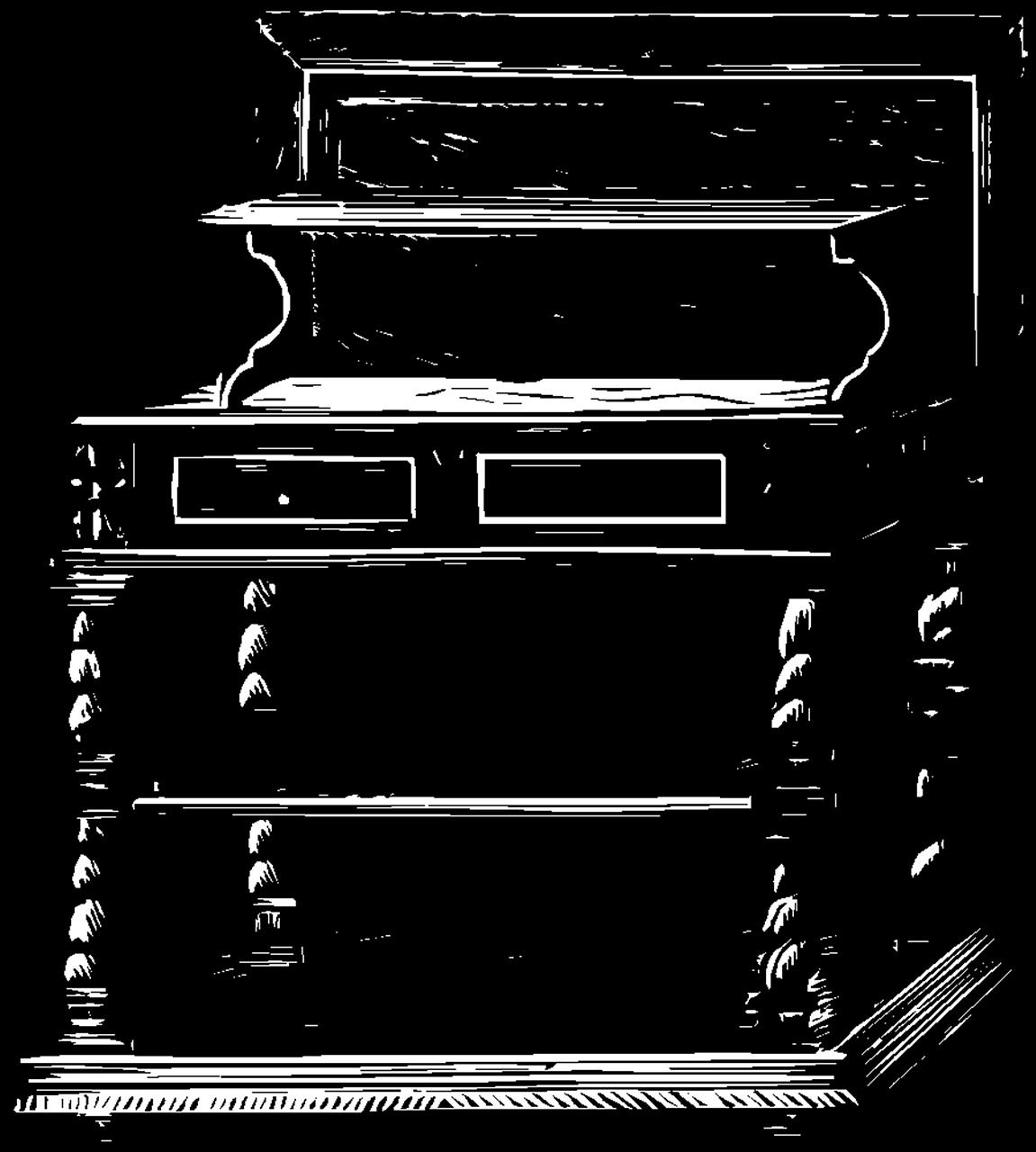 Furniture clipart furnature. Home decor desk vintage