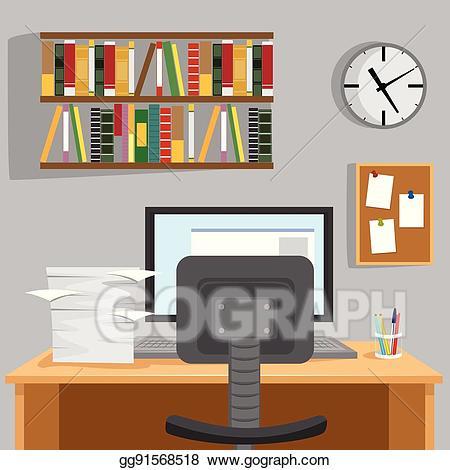 Desk clipart home desk. Clip art vector designed