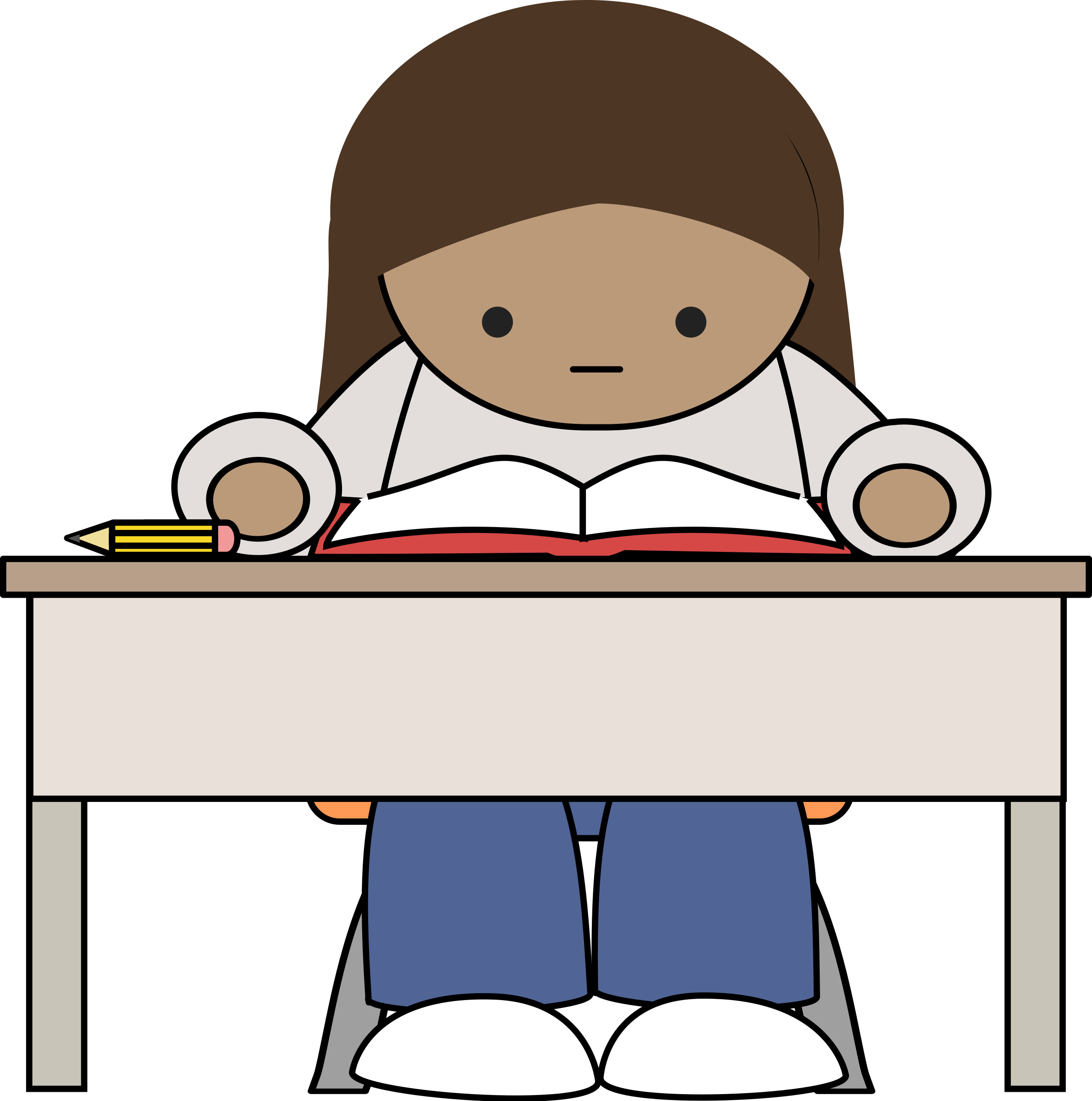 Desk clipart homework. Reading big image png