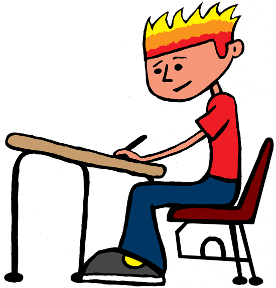 collection of student. Working clipart independent work
