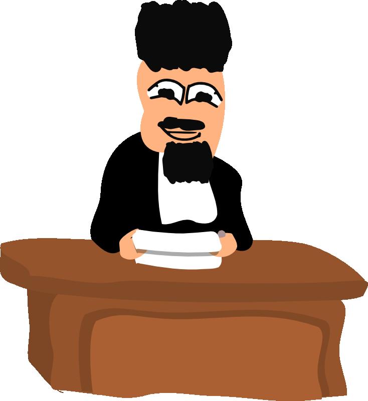 Clipart desk judge. Pictures cliparts co