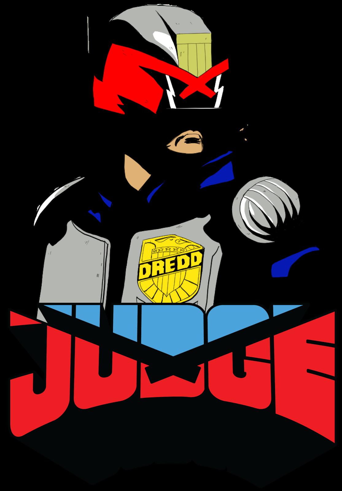 Thetimbrown dredd stickers just. Judge clipart desk