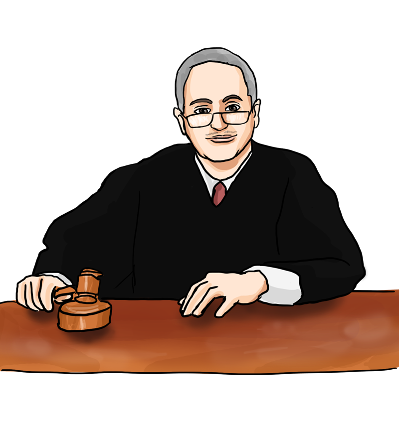 clipart hammer courtroom