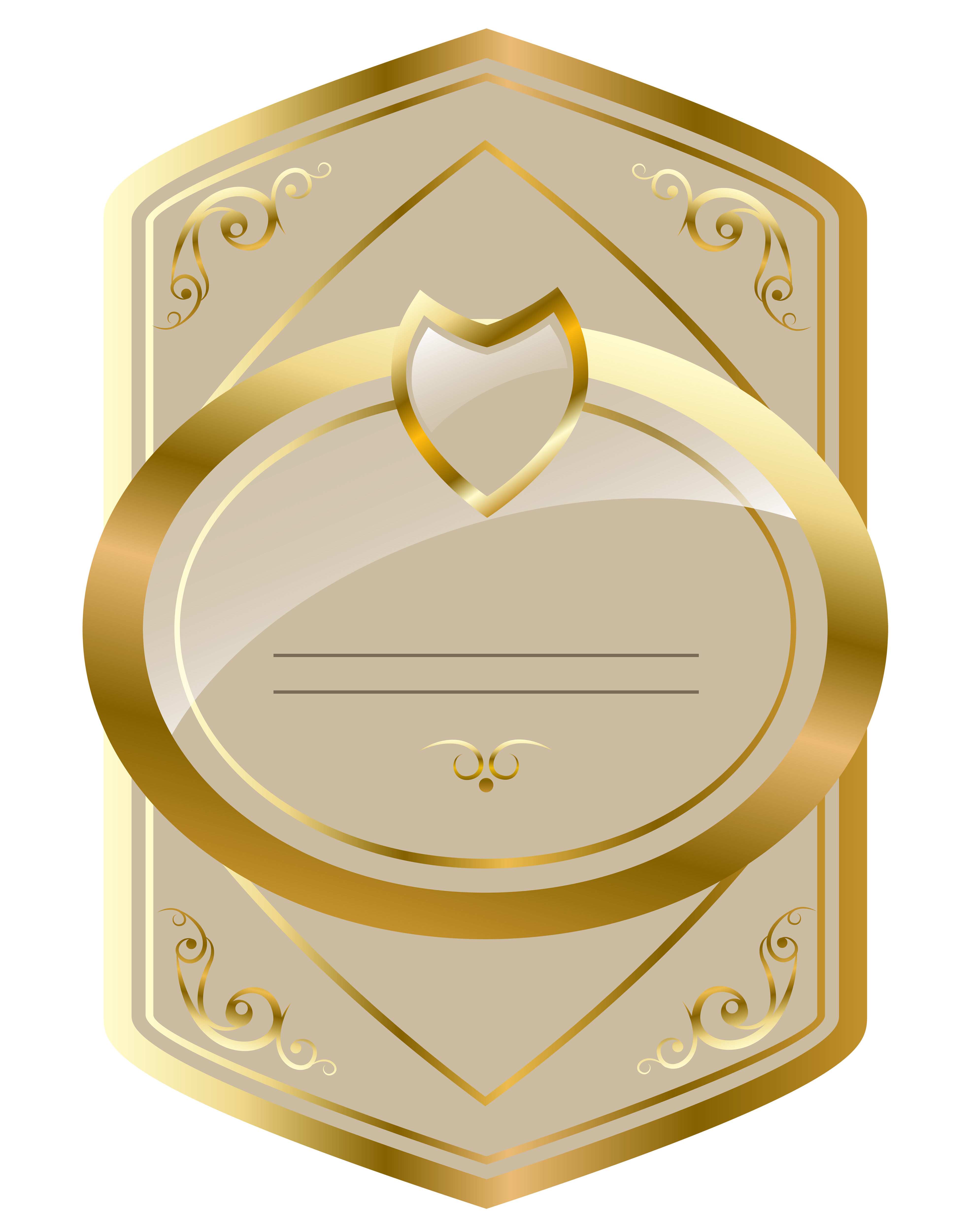 Cream and gold luxury. Desk clipart letterhead