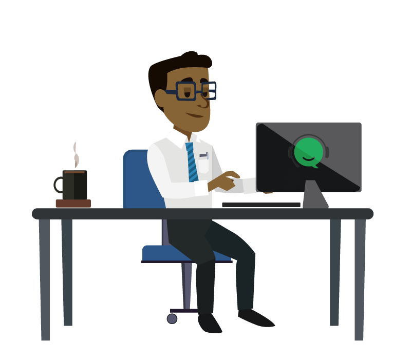 Employee clipart receptionist. It services gabbyville virtual