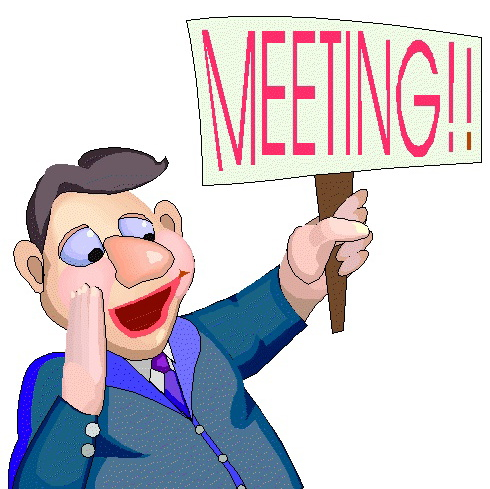 Free work cliparts download. Fundraiser clipart meeting sign
