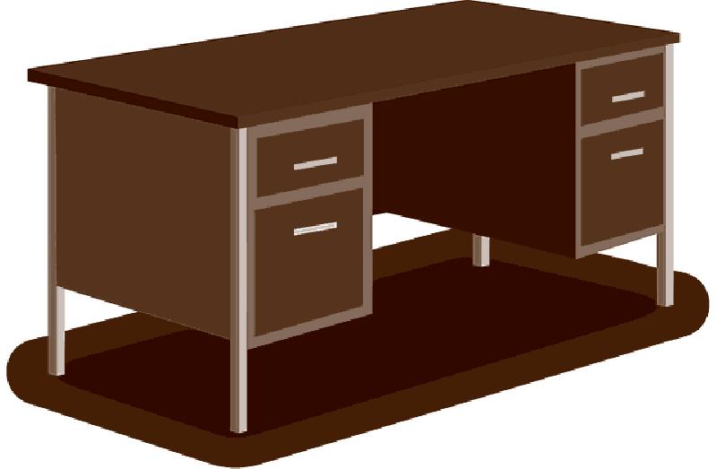Office transparent png pictures. Desk clipart square table