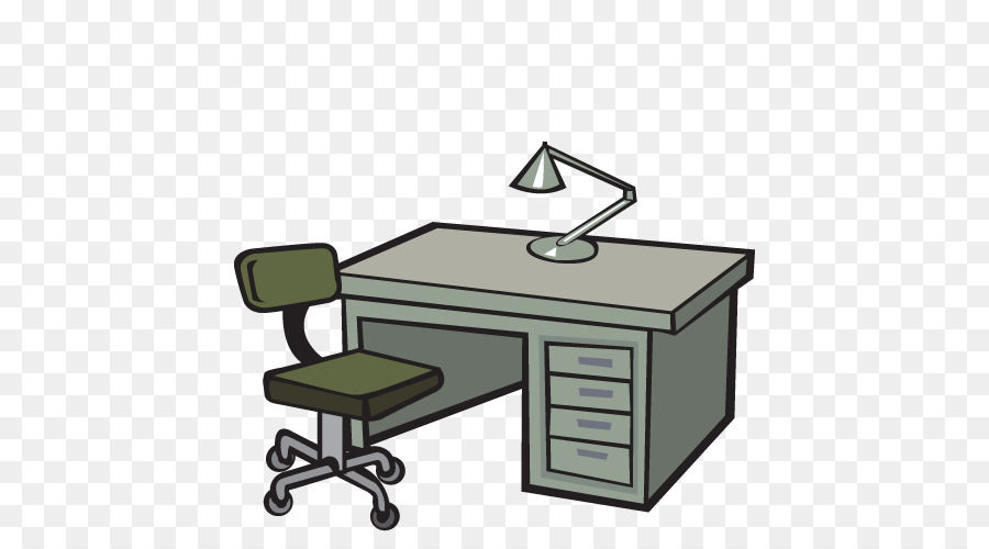 Cartoon . Clipart desk office furniture