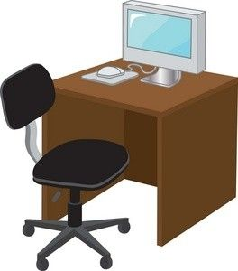 Free desk image . Furniture clipart office furniture