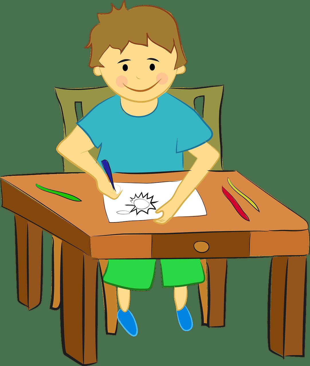 How to avoid summer. Stress clipart desk