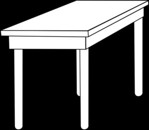 Table clip art at. Clipart desk outline