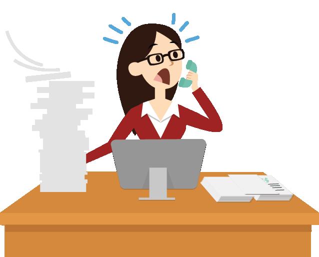 Maintenance agreement software service. Clipart desk paperwork