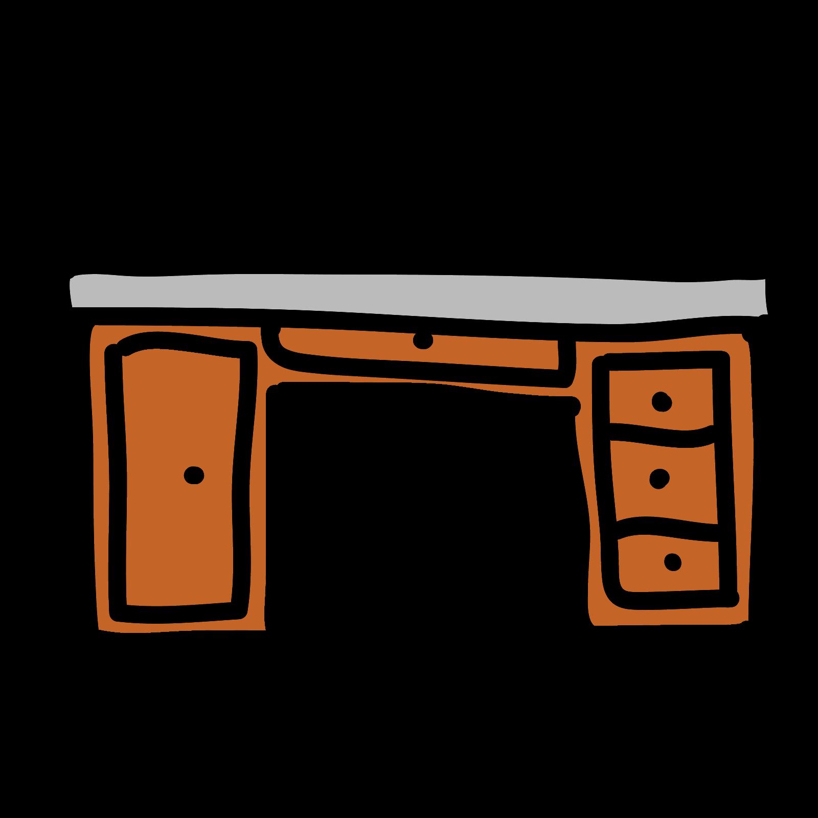 Icono descarga gratuita png. Desk clipart vector school