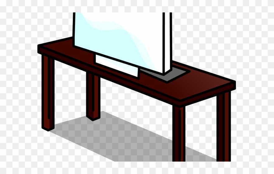 Club penguin cheats png. Desk clipart pink desk