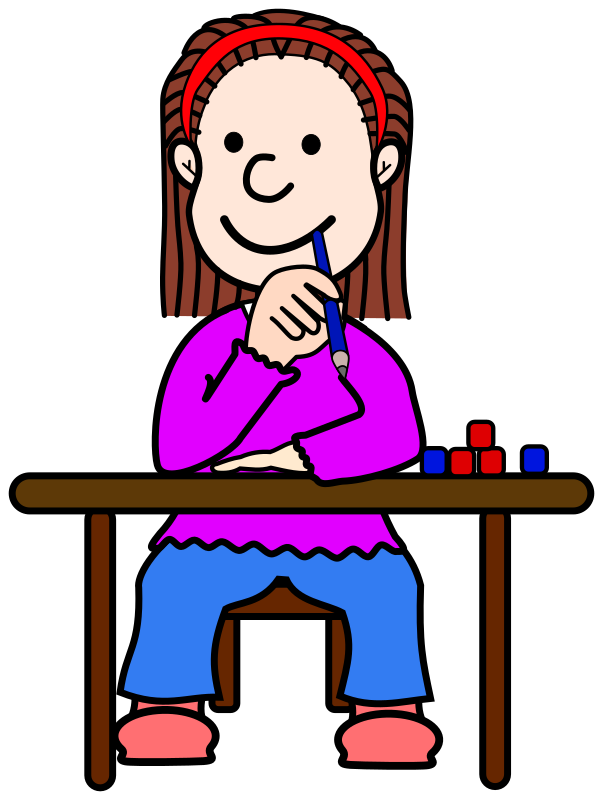 Lady clipart thinking.  collection of girl