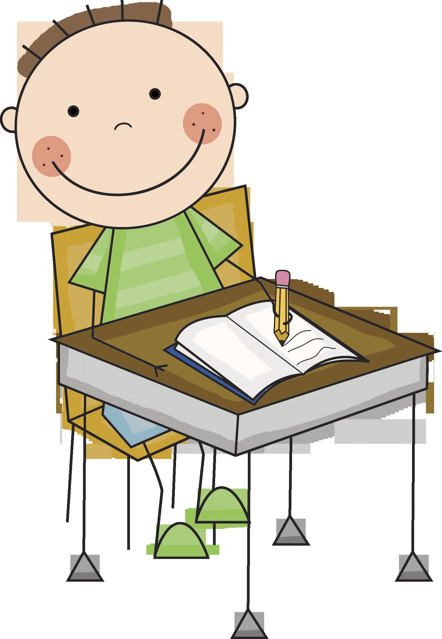 Clipart desk preschool. Boy at png transparent