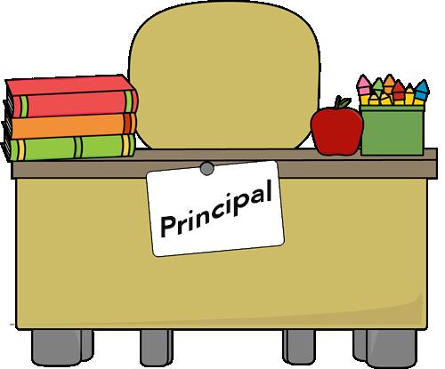 Principals free finders . Clipart desk principal desk