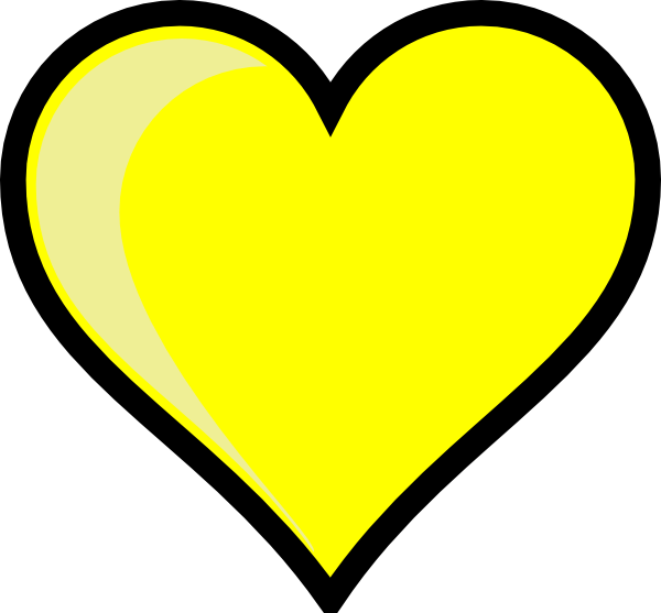 Heart yellow clip art. Heartbeat clipart football
