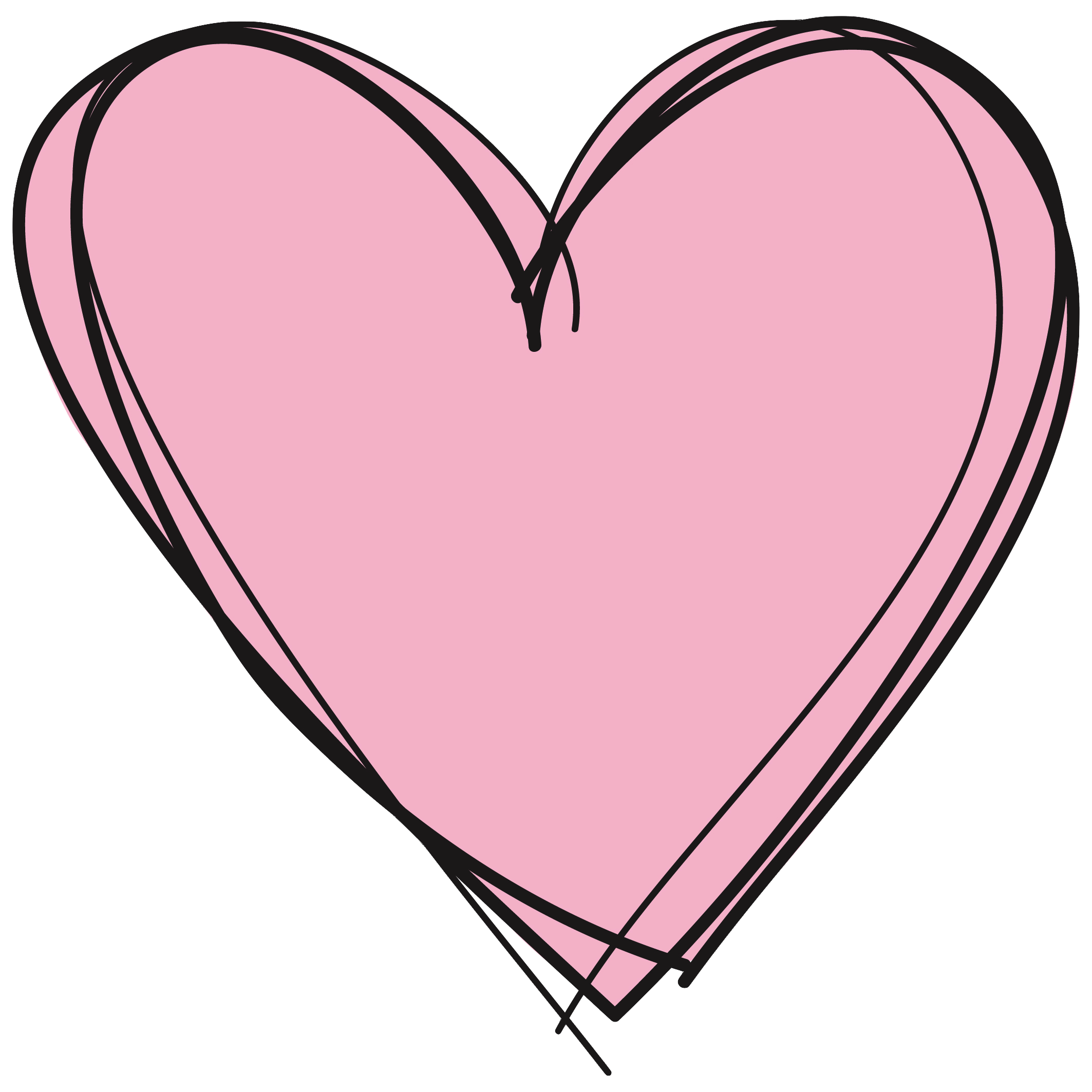 Clipart heart scribble. Hearts in a row