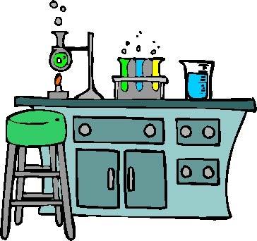 Room station . Desk clipart science