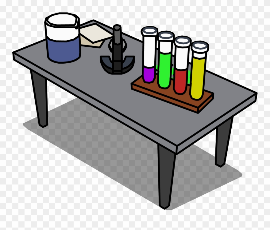 Lab clipart desk. Science table png transparent