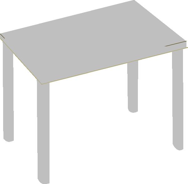 Grey clip art at. Desk clipart square table