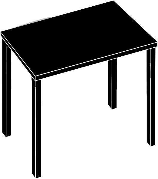 Black shadi clip art. Desk clipart square table