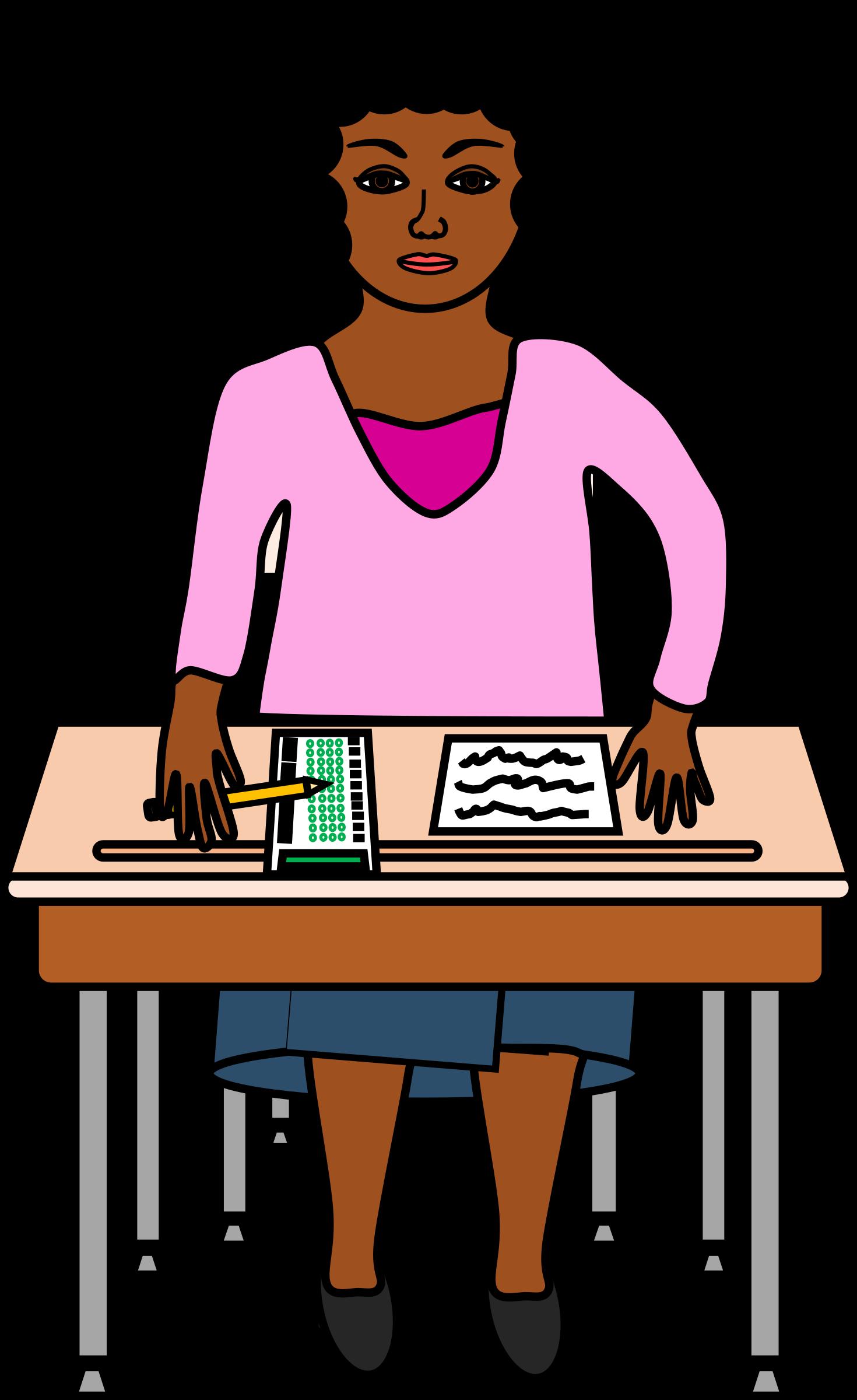 Desk clipart standardized test. Taking a in purple
