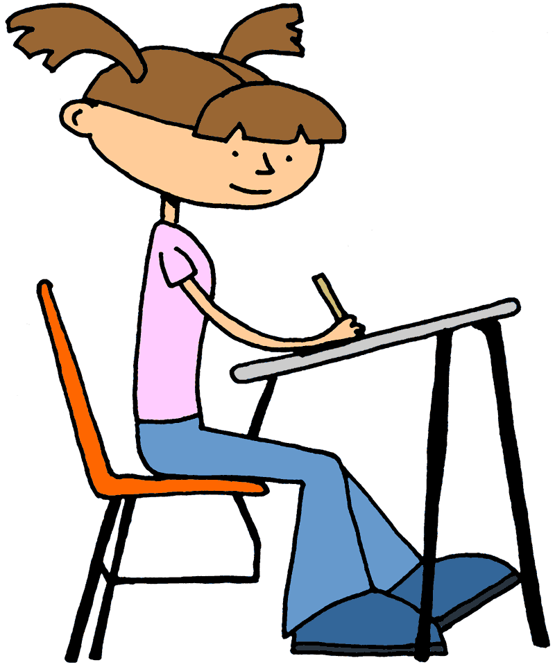 Study clipart study notes. Png test taking students