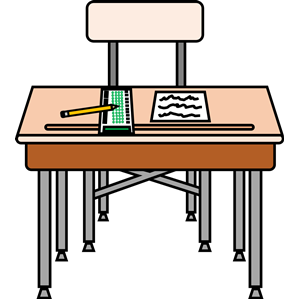 Clipart desk standardized test. All ready for a