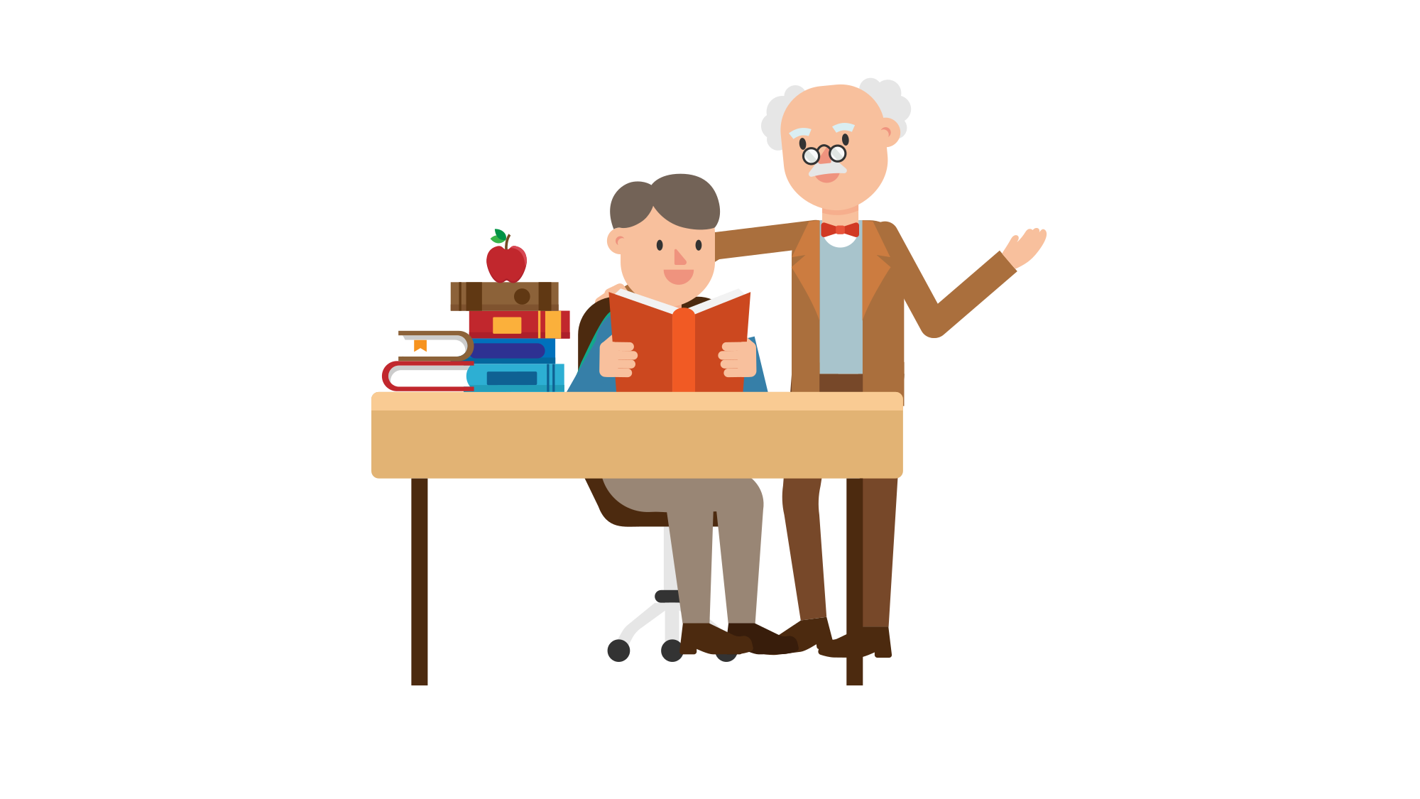Log clipart history professor. File teaching a student