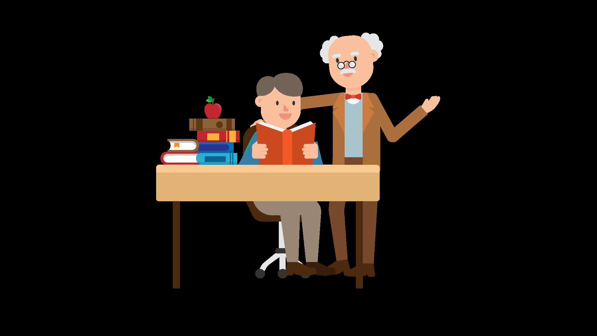 File professor teaching a. Desk clipart student technology