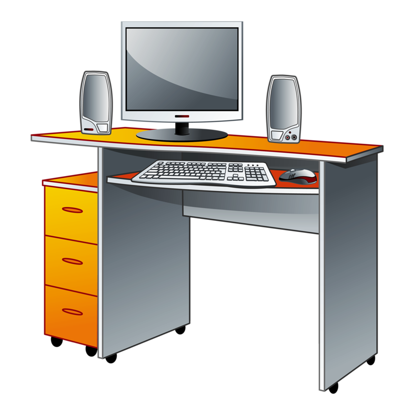 Furniture clipart computer table.  doma a vm