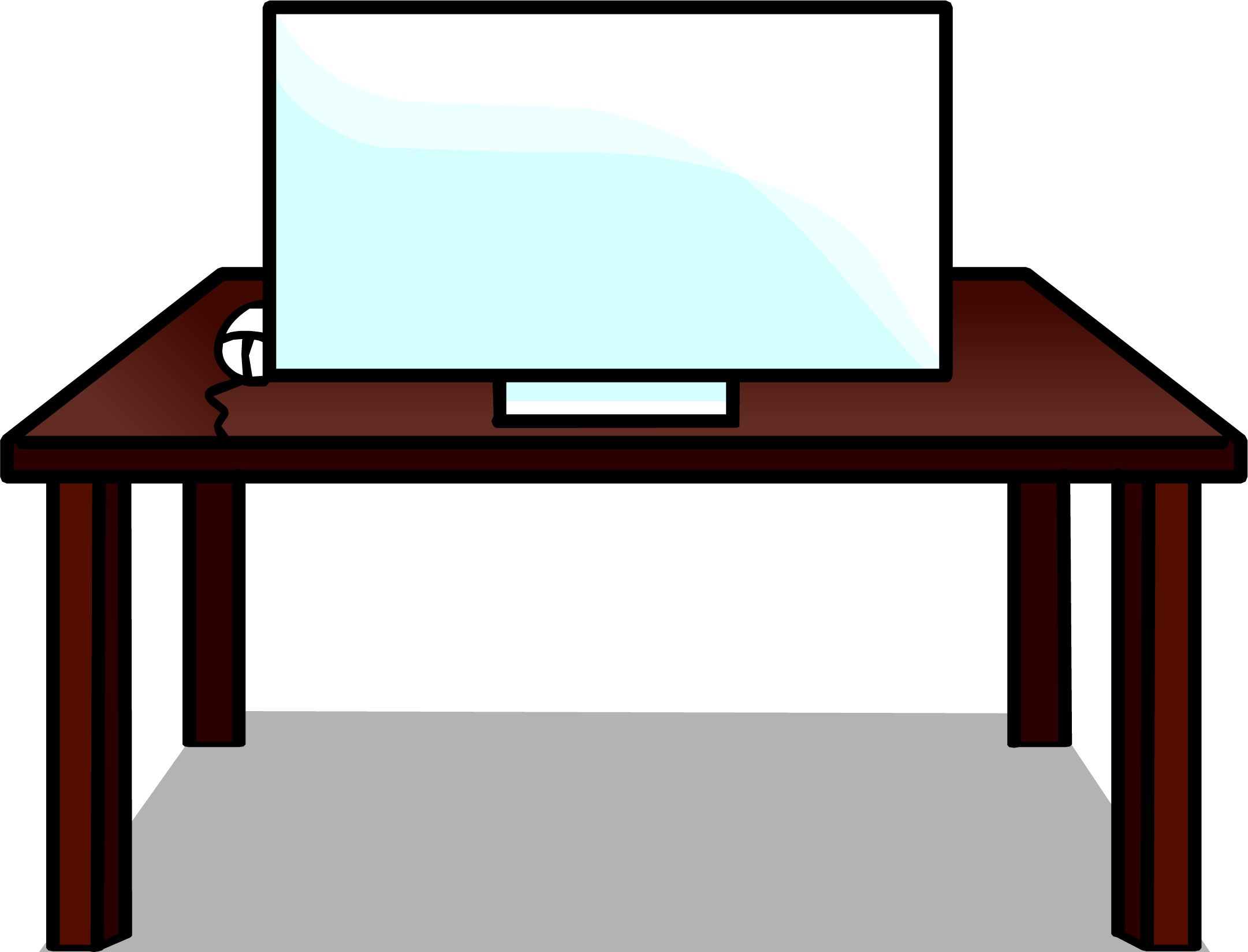 Furniture clipart computer table. Image desk sprite png