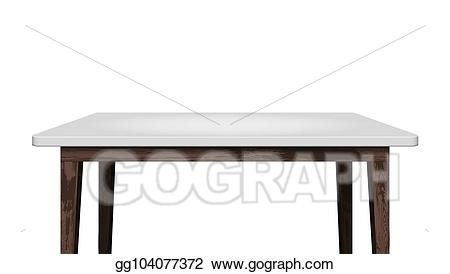 Vector illustration empty clear. Clipart desk tabletop