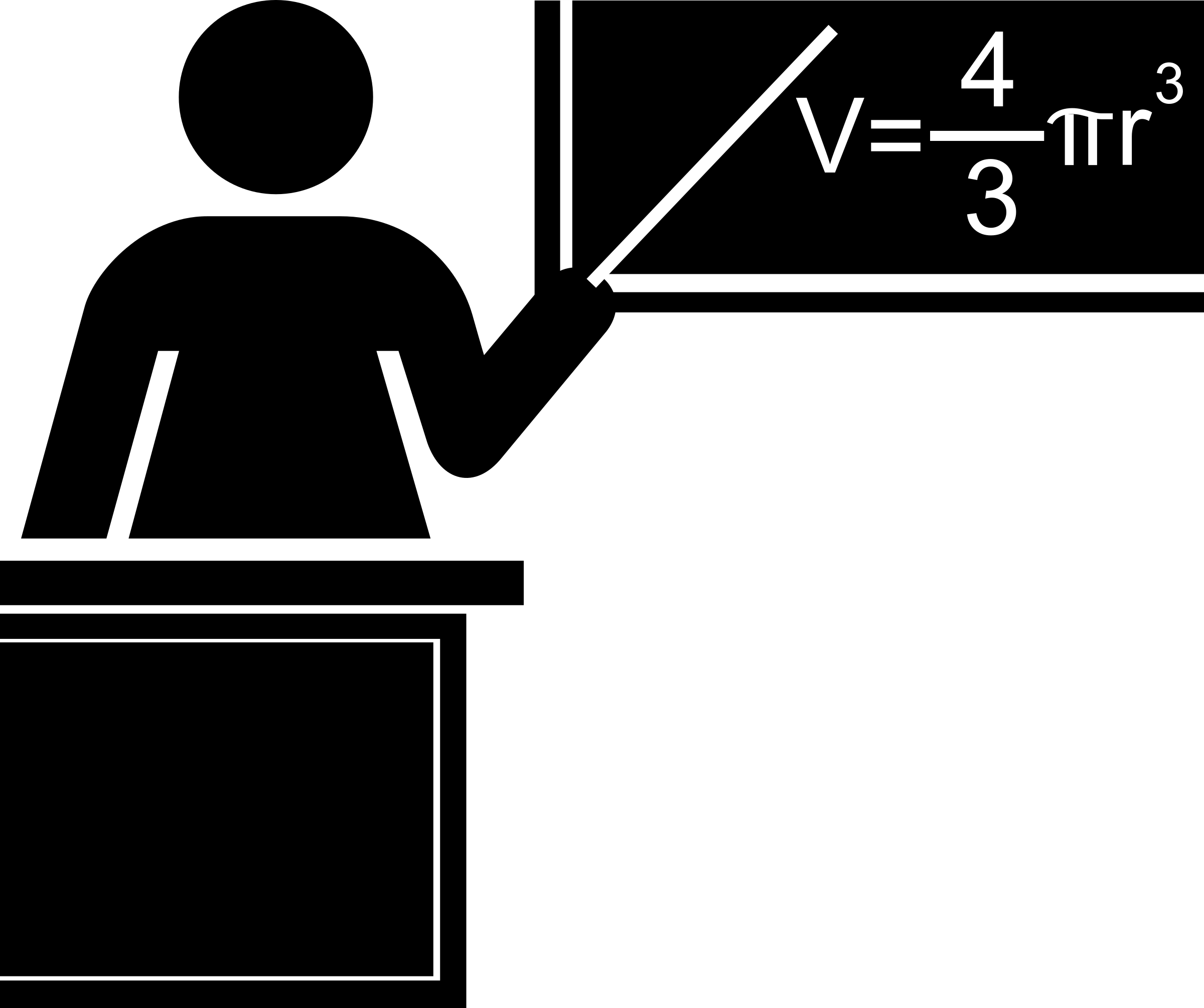Clipart teacher symbol. Silhouette black and white