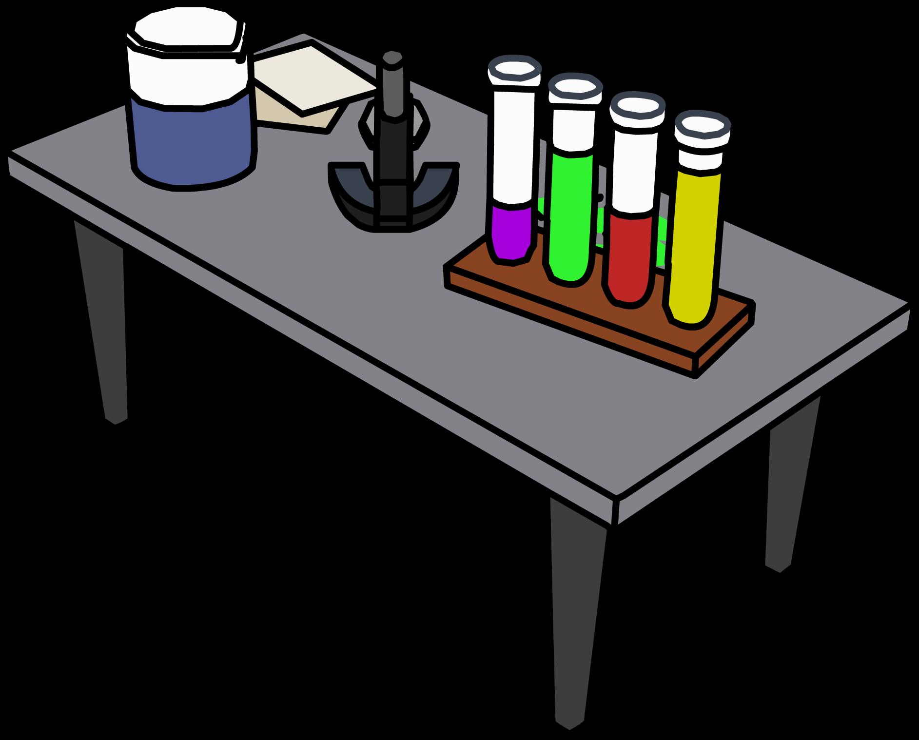 Clipart desk testing. Laboratory table clip art