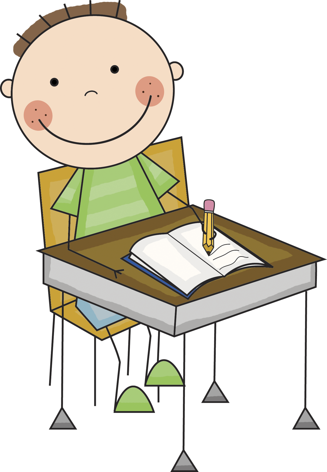 collection of child. Desk clipart homework