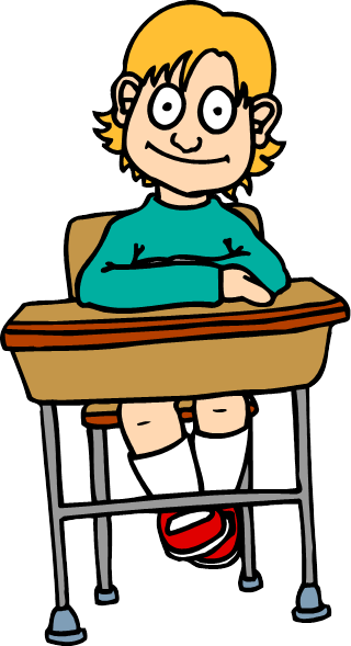 Of boy seating at. Clipart desk testing