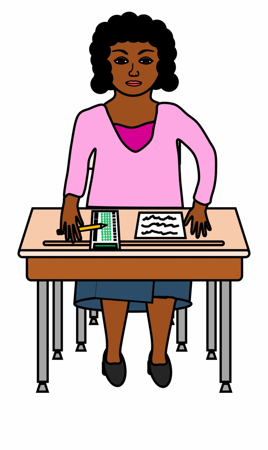 Clipart desk testing. Taking a standardized test