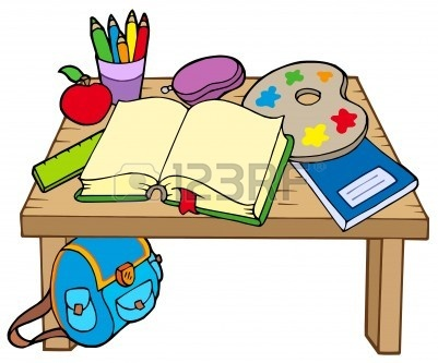 Desk clipart thing. Free school things download