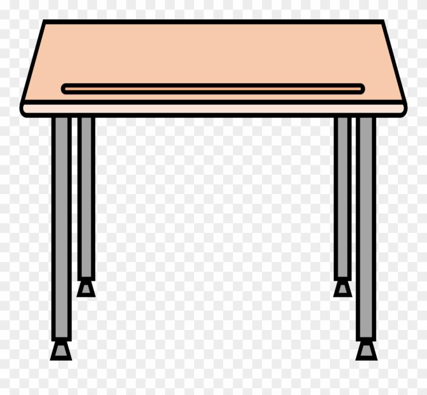 School beautiful simple icons. Desk clipart transparent background